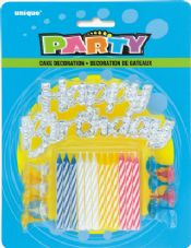 Happy Birthday' Cake Topper and Birthday Cake Candles